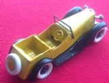 A DINKY TOYS COPY MODEL 36F 4 SEATER SALMSON YELLOW AND BLACK